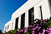 flowers stock photography | California, Oakland, Alameda County Courthouse, image id S5-60-3344