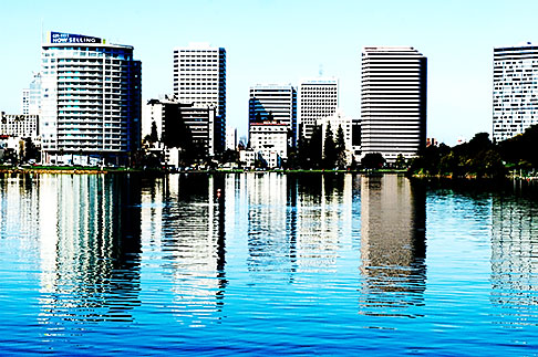 image S5-60-3443 California, Oakland, Lake Merritt