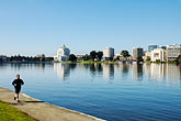 runner stock photography | California, Oakland, Lake Merritt, image id S5-60-3449