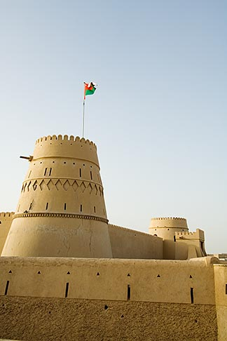 image 8-730-9830 Oman, Buraimi, Al Khandaq Fort, and Omani flag