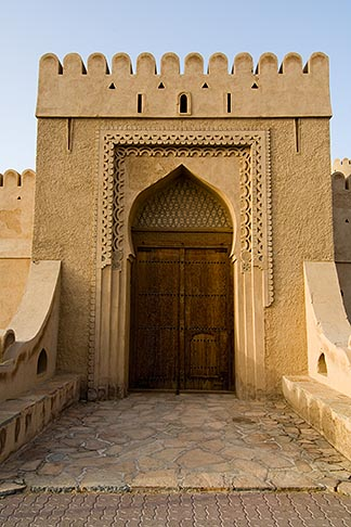 image 8-730-9837 Oman, Buraimi, Al Khandaq Fort, Entrance gate