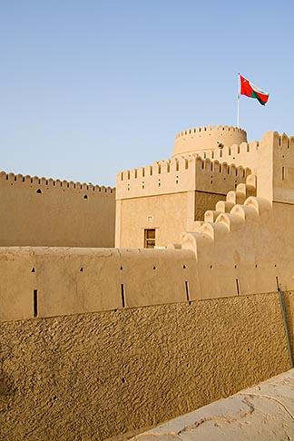image 8-730-9844 Oman, Buraimi, Al Khandaq Fort, walls and ramparts
