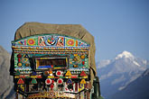 karakoram highway stock photography | Pakistan, Decorated truck,, image id 4-461-21