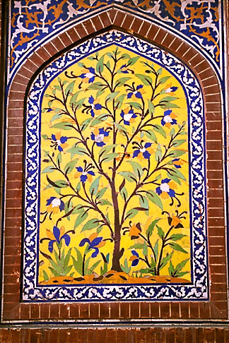 image 4-462-18 Pakistan, Lahore, Inlaid tree of life, Lahore Fort
