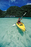 one woman only stock photography | Palau, Rock Islands, Kayaking, image id 8-100-4