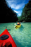 two people stock photography | Palau, Rock Islands, Two kayaks, image id 8-101-2