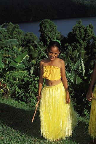 image 8-106-26 Palau, Portrait of young dancer
