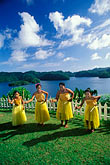 four children stock photography | Palau, Koror, Palauan dancers, image id 8-107-32