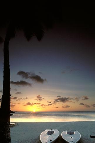 image 8-116-4 Palau, Sunset, Koror beach