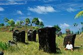 stone stock photography | Palau, Babeldaob, Stone monoliths, Badrulchau, image id 8-117-31