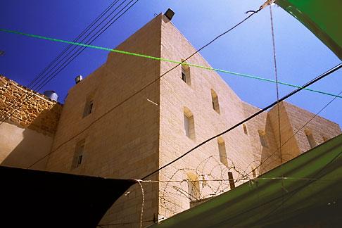 image 9-350-34 Palestine, West Bank, Hebron, Settlement built on top of Palestinian market