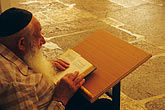 old age stock photography | Palestine, West Bank, Hebron, Man praying in synagogue in Tomb of Abraham, image id 9-400-83
