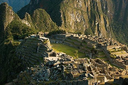 image 8-760-1467 Peru, Machu Picchu, Sacred Plaza and agricultural terraces