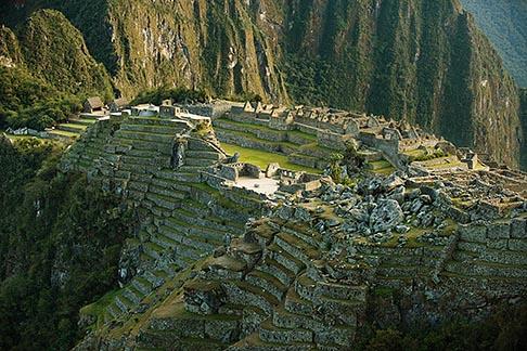 image 8-760-1469 Peru, Machu Picchu, Sacred Plaza and agricultural terraces