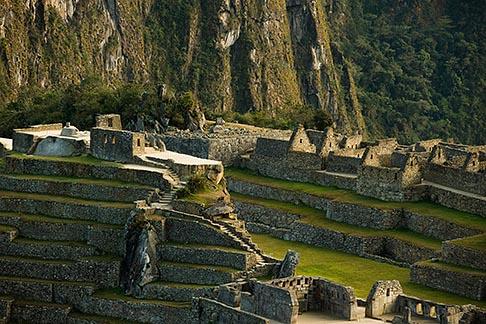image 8-760-1472 Peru, Machu Picchu, Sacred Plaza and agricultural terraces