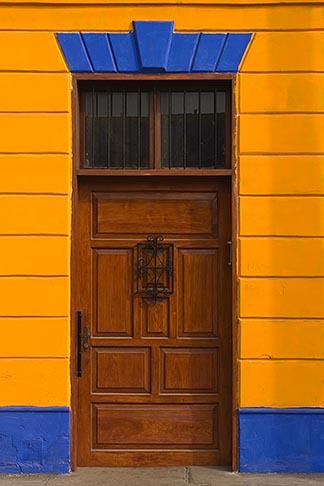 image 8-760-2114 Peru, Callao, Colorful historic buildings in port of Callao