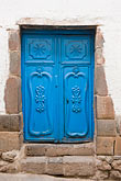 cuzco stock photography | Peru, Cuzco, Blue decorated doorway, image id 8-760-618