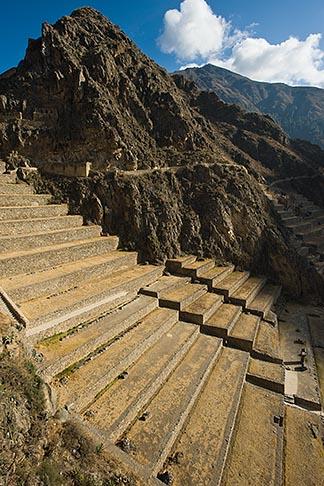 image 8-760-880 Peru, Ollantaytambo, Ollantaytambo Temple, Inca ruins, stone terraces