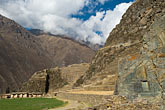 travel stock photography | Peru, Ollantaytambo, Urubamba Valley and Ollantaytambo Temple, image id 8-760-931