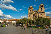 travel stock photography | Peru, Cuzco, Cuzco Cathedral and Plaza de Armas, image id 8-761-1019
