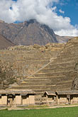 peruvian stock photography | Peru, Ollantaytambo, Terraced steps of Ollantaytambo Temple, image id 8-761-1337
