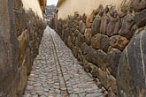 travel stock photography | Peru, Ollantaytambo, Cobblestoned alleyway, image id 8-761-1473