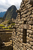 peruvian stock photography | Peru, Machu Picchu, Incs ruins of stone houses, image id 8-761-1717