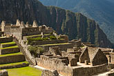 peruvian stock photography | Peru, Machu Picchu, Sacred Plaza, terraces and stone ruins, image id 8-761-1722
