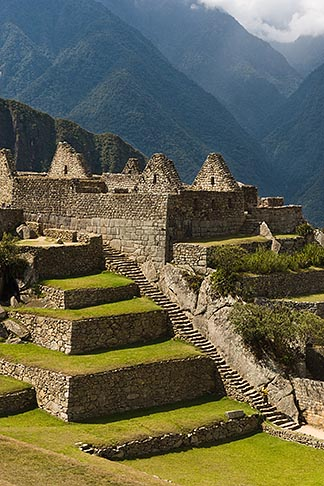 image 8-761-1730 Peru, Machu Picchu, Terraces and stone ruins