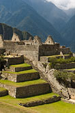 peruvian stock photography | Peru, Machu Picchu, Terraces and stone ruins, image id 8-761-1730