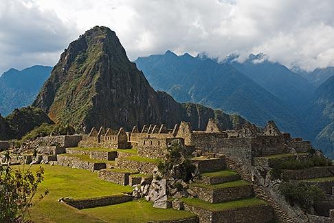 image 8-761-1739 Peru, Machu Picchu, Sacred Plaza, terraces and Huayna Picchu peak
