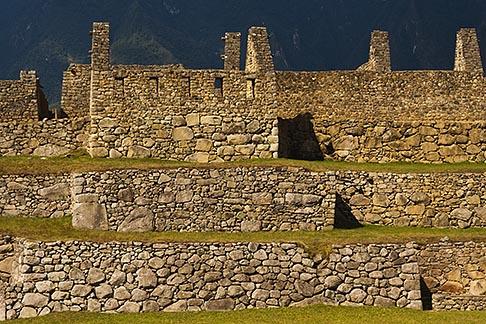 image 8-761-1803 Peru, Machu Picchu, Terraces and stone ruins