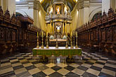 the cathedral stock photography | Peru, Lima, Lima Cathedral, main altar, image id 8-761-518