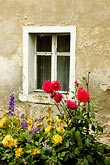 red house stock photography | Poland, Jelenia Gora, Garden and window, image id 4-960-1292
