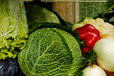 nourishment stock photography | Vegetables, Cabbages in market, image id 4-960-1337