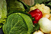 nourishment stock photography | Vegetables, Cabbages in market, image id 4-960-1339