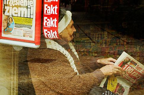 image 4-960-1344 Poland, Jelenia Gora, Elderly woman reading