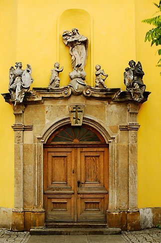 image 4-960-1353 Poland, Jelenia Gora, Ornate doorway