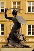 travel stock photography | Poland, Warsaw, Statue of Warsaw Mermaid, Warszawska Syrenka, Rynek Starego Miasta, Old Town Square, image id 7-700-7565