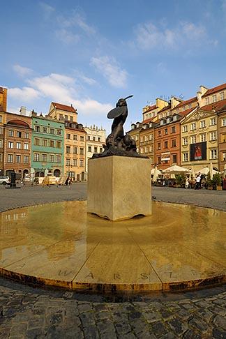 image 7-700-7576 Poland, Warsaw, Statue of Warsaw Mermaid, Warszawska Syrenka, Rynek Starego Miasta, Old Town Square
