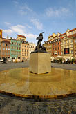 statue of warsaw mermaid stock photography | Poland, Warsaw, Statue of Warsaw Mermaid, Warszawska Syrenka, Rynek Starego Miasta, Old Town Square, image id 7-700-7576