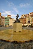 town stock photography | Poland, Warsaw, Statue of Warsaw Mermaid, Warszawska Syrenka, Rynek Starego Miasta, Old Town Square, image id 7-700-7576