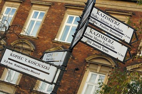 image 7-730-8274 Poland, Krakow, Street signs, Kazimierz