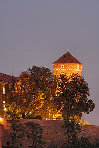 image 7-730-8336 Poland, Krakow, Wawel, Royal Castle, at night
