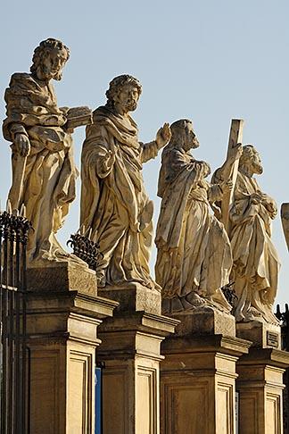 image 7-730-8378 Poland, Krakow, Statues of Twelve Disciples, Church of Sts Peter and Paul, Kosciol swietego Piotra i Pawla