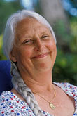 smile stock photography | Portraits, Woman with silver hair, image id 3-496-22