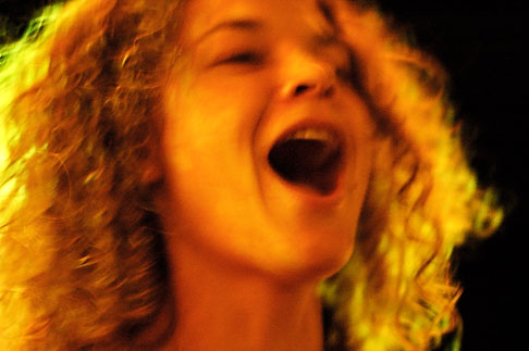 image S4-350-1262 New Mexico, Santa Fe, Woman laughing