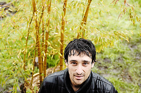 image S5-45-2665 Portraits, Man in the rain