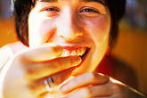 one person stock photography | Portraits, Laughing woman, image id S5-59-8