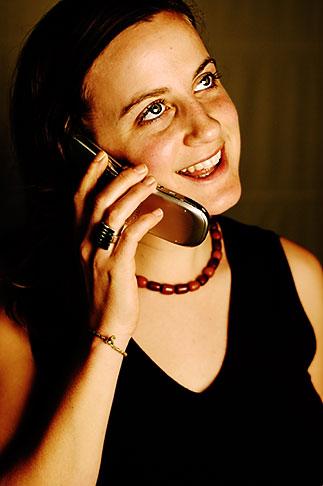 image S5-90-5278 Portraits, Woman on phone